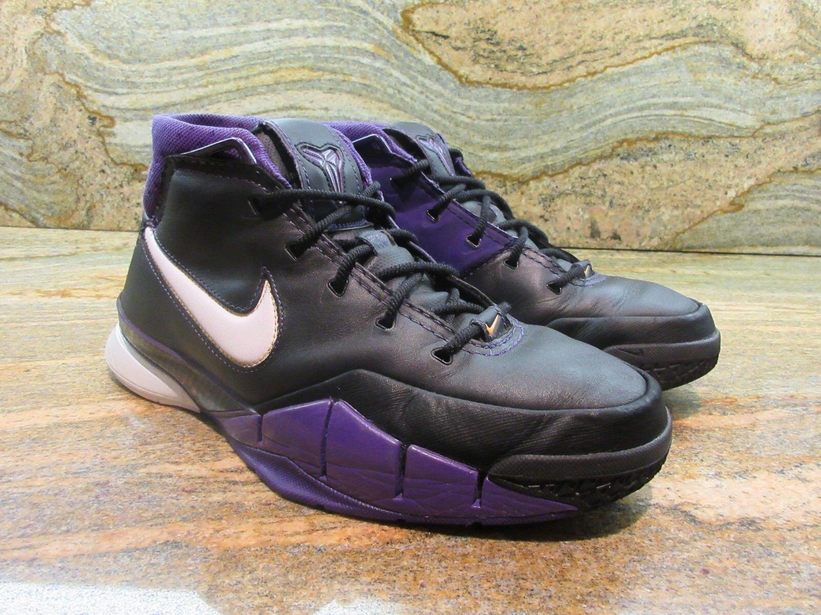 2006 Nike Zoom Kobe 1 OG SZ 9.5 Black Out LA Lakers Bryant Predro 313143-014