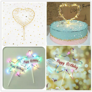 1Pc-LED-Pearl-Heart-Star-Cake-Topper-Happy-Birthday-Cake-Baking-Party-Decoration
