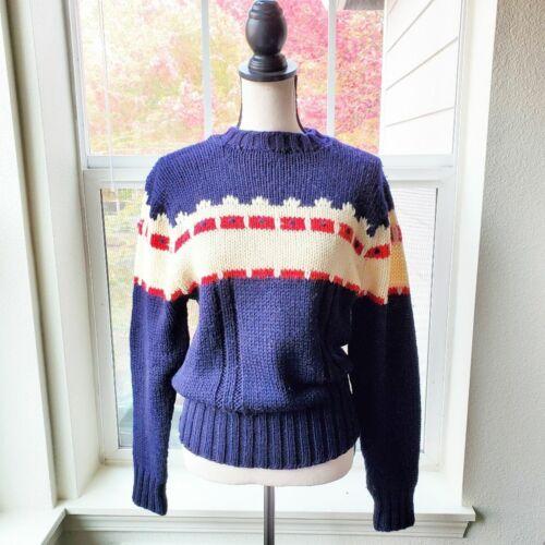 Vintage 1940's Kingstone Hand Loomed Ski Sweater