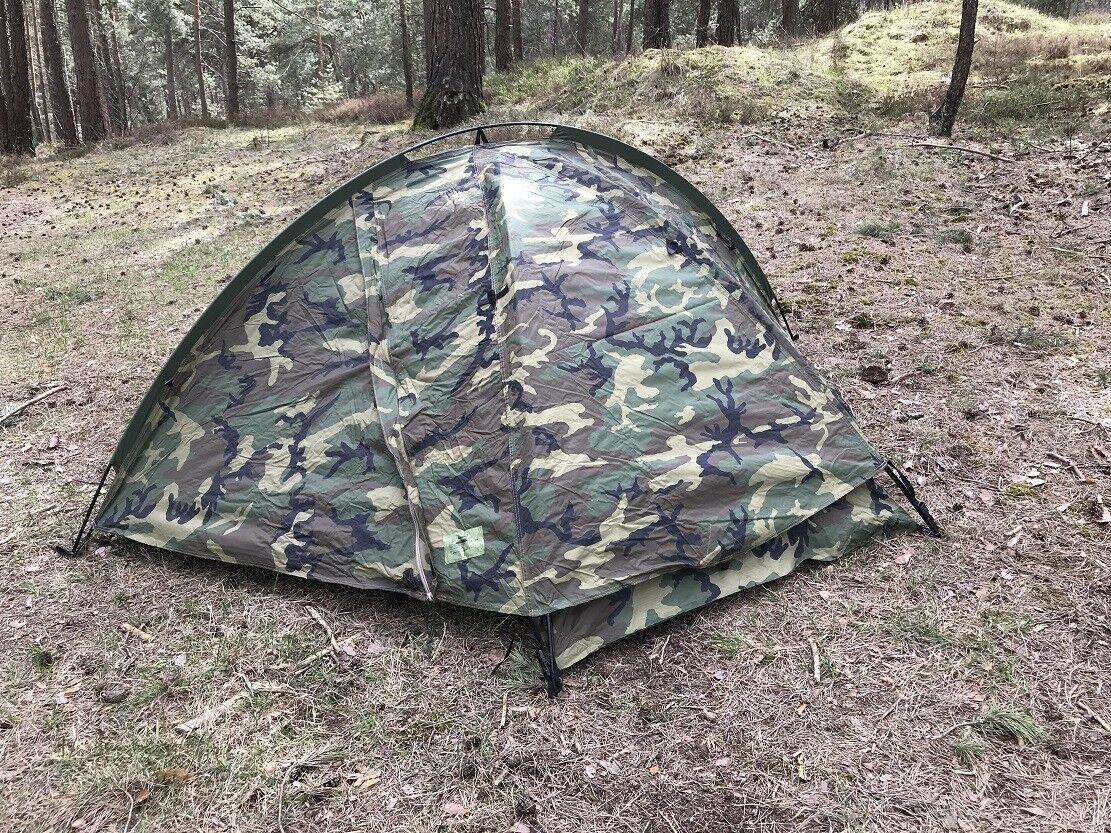 Eureka tcop one persona Combat wcp Woodland camuflaje camping exterior tent carpa