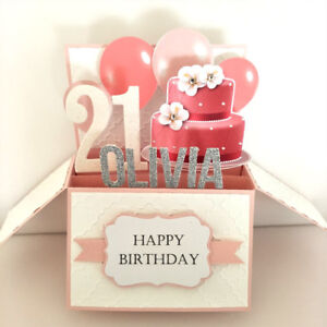 Image Is Loading Handmade Birthday Card Girlfriend 21st Name