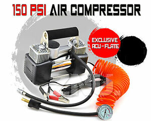 12V-4x4-4wd-150-PIS-PORTABLE-EXTRA-HEAVY-DUTY-AIR-COMPRESSOR-Brand-NEW-Inflator