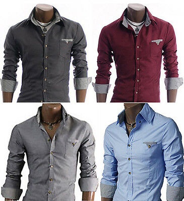 Men's Casual Shirts Cool Look Slim Fit Dress New Collection