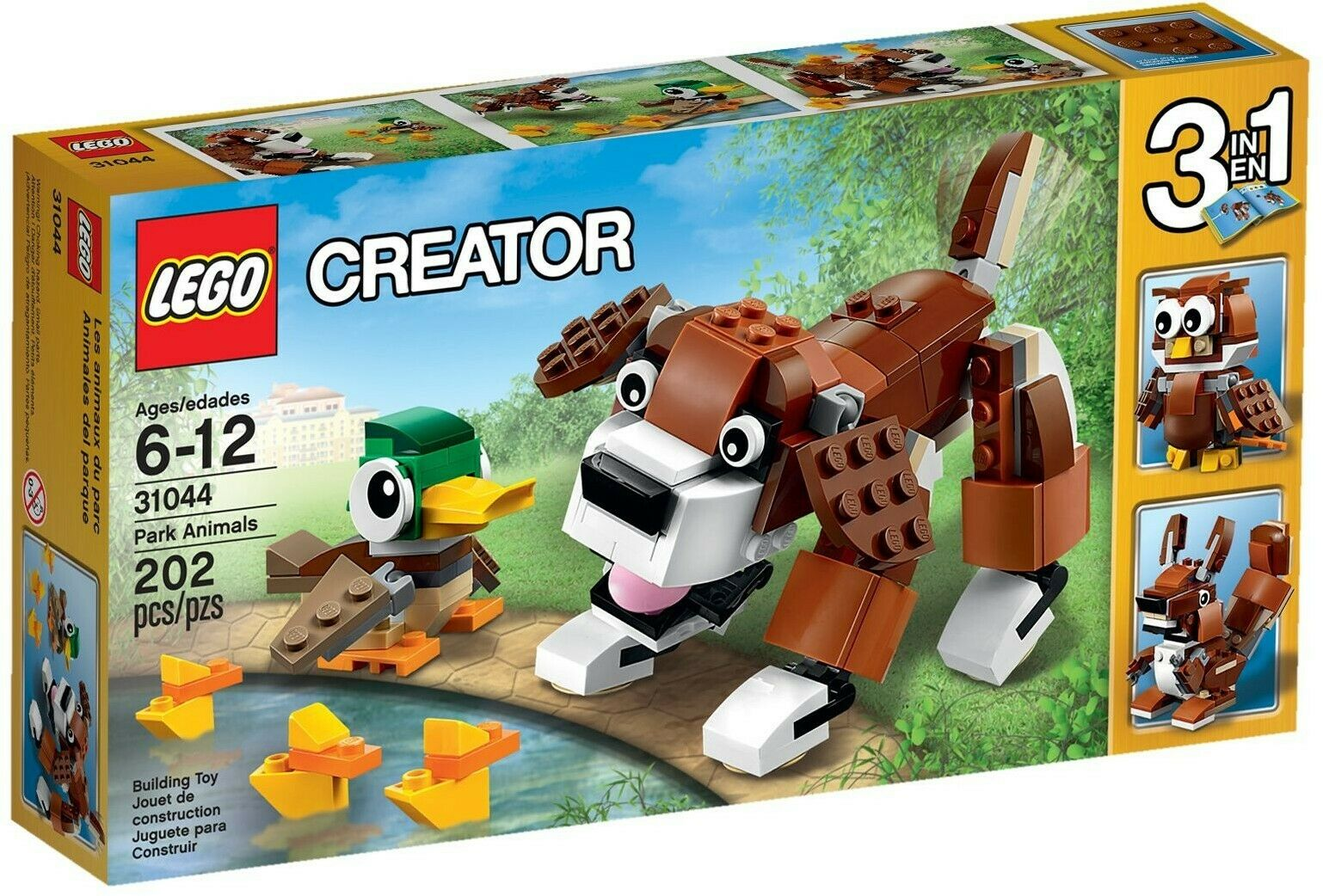 "LEGO Creator ""3-in-1"" (31044) Park Animals (Brand New & Factory Sealed)"