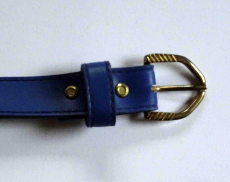 Gürtel, Blau Matt, 2,5 Cm, Kunstleder, Gürtellänge 80 Cm