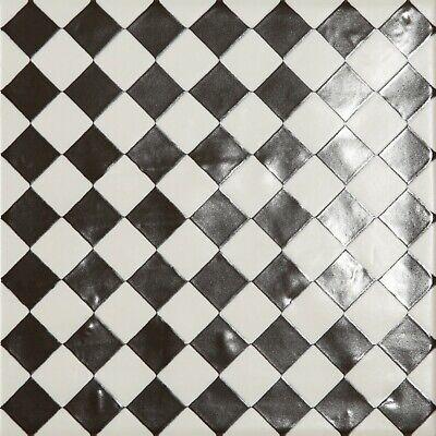 Fitzrove Diamond Black White Victorian Porcelain Wall Floor Tiles Ebay