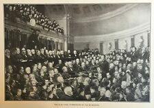 RARE ENGRAVING - THE ELECTORAL COMMISSION OF 1876 IN SESSION