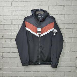 $120 Nike Windrunner Wild Run Tech Running Jacket Black Reflective Mens Medium M