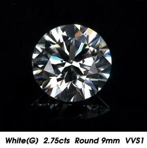 Brilliant-White-Natural-Diamond-G-Color-2-75cts-9mm-Round-Shape-VVS1-Clarity