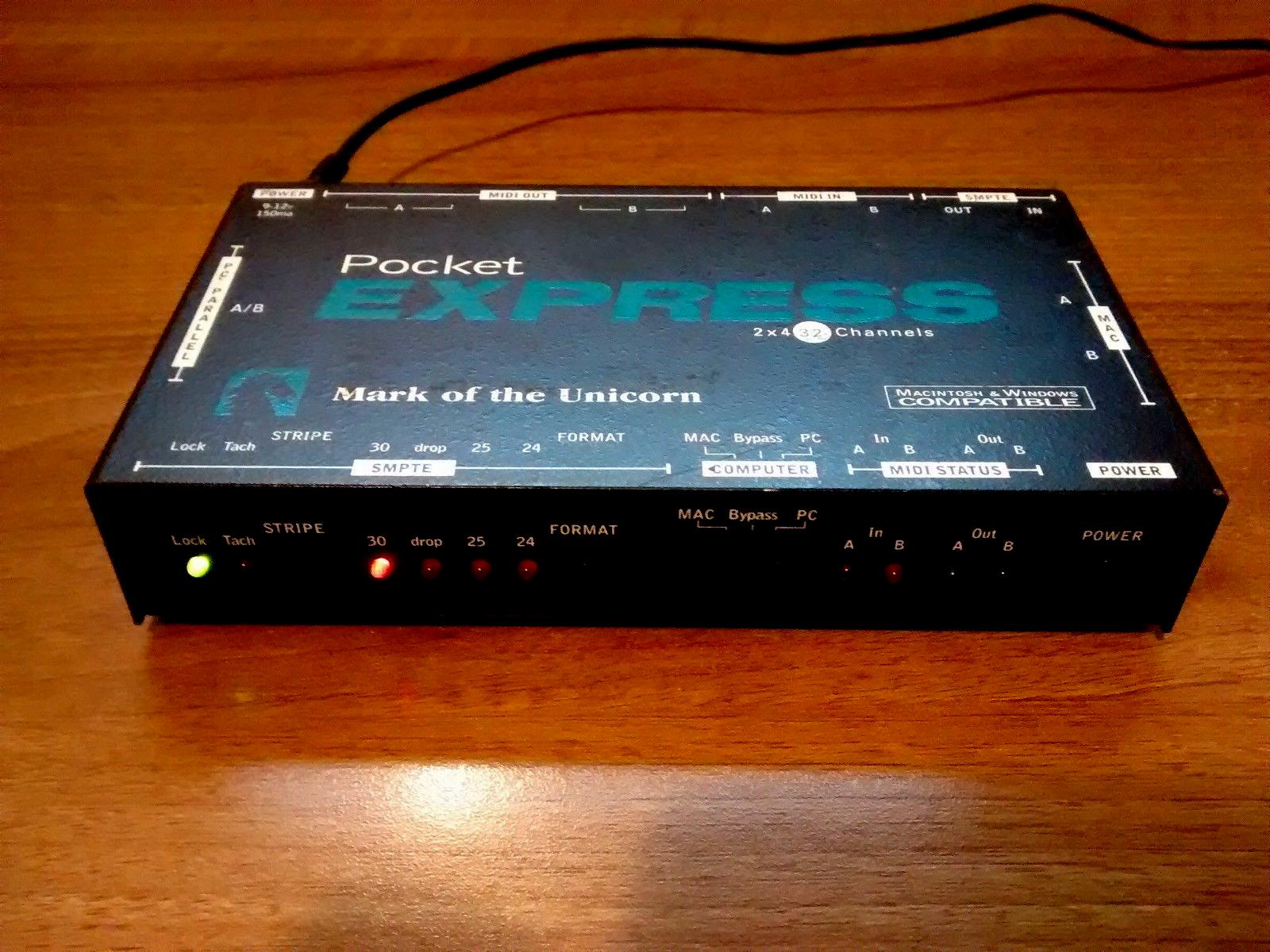MOTU Pocket Express MIDI interface MAC   PC