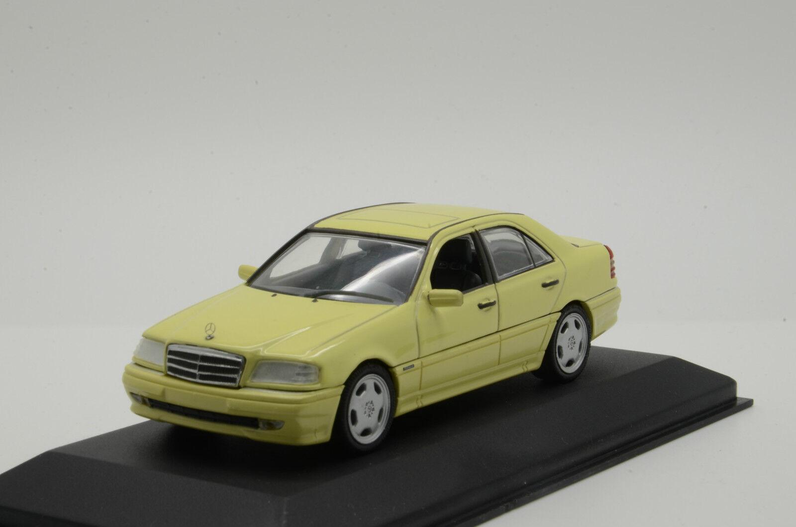 Rara ¡Rara Mercedes c36, mini campeón 1   43 amarillo.