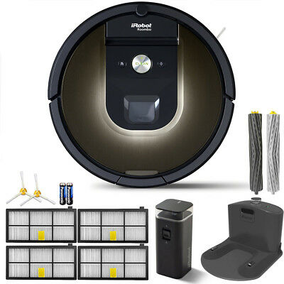 iRobot Roomba 980 App-Controlled Self-Charging Vacuum w/ WiFi Accessories Bundle