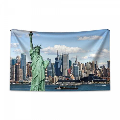 Hafen Wandteppich und Tagesdecke Freiheitsstatue NYC Druck