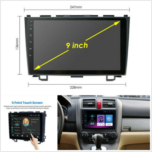 2+32G Android 9.1 Quad-Core 9/'/'Car Stereo Radio GPS Navigation OBD For 06-11 CRV