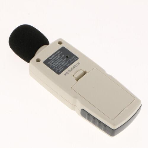 LCD Digitales Schalldruckmessgerät Pegelmesser Dezibel Geräuschmessung