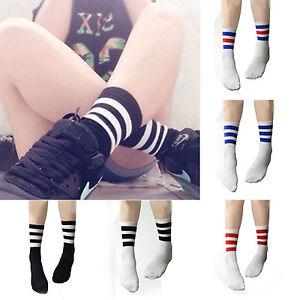 Best Mens Womens Unisex Striped Cotton Crew Ankle Sports Socks Football socks