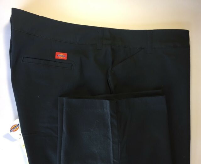 New Dickies Women Stretch Twill Pants Relaxed Fit Chinos Navy Blue 22 RG