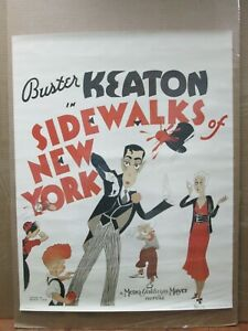 Buster-Keaton-sidewalks-of-New-York-1970-039-s-reprint-Vintage-Poster-movie-inv-4574