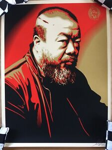 Shepard-Fairey-AI-WEIWEI-X-COST-OF-EXPRESSION-Screen-Print-Signed-And-Numbered