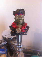 Black Beard Pirate Skull beer tap handle for kegerators! Brand New!