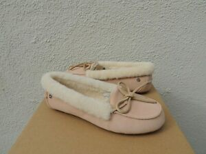 50a5f69dd8a Image is loading UGG-SOLANA-SHEEPSKIN-CUFF-MOCCASIN-SLIPPERS-LOAFERS-WOMEN-