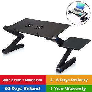 ... Adjustable Rolling Laptop Table Stand Overbed Desk Tilting