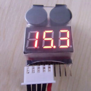 RC-Buzzer-1-8S-Lipo-Alarm-Warner-Schutz-Checker-Voltage-Pieper-LED-Tester-R3N3