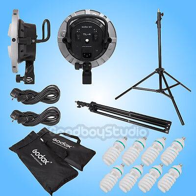 Godox TL-4 Lamp Head + 60x90cm Softbox + 8X 115W Bulb Continuous Light Kit 220V