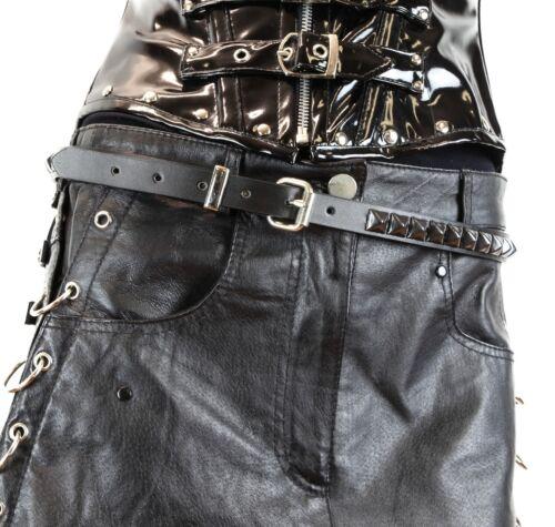 Gun Metal Pyramid Stud Belt Genuine Leather Punk Goth Thrash Metal USA Made 3//4