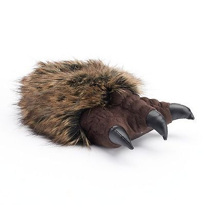 Boy's Youth Animal Faux Fur Claw Monster Feet Slippers - New w/ Tags!