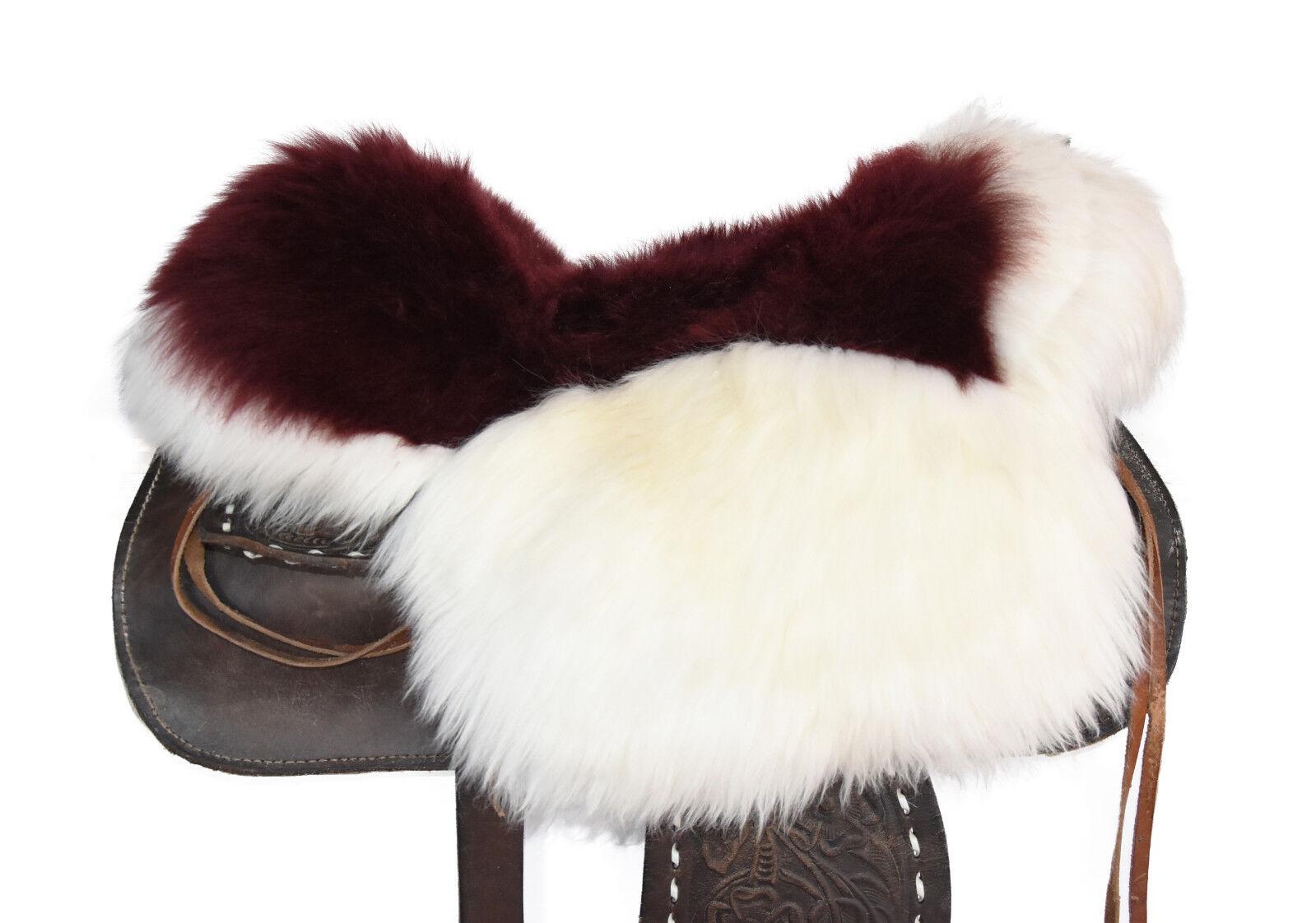 Agnello SELLA EDIZIONE Western Sella Lammfell riferimento saddle pad SEAT saver s350