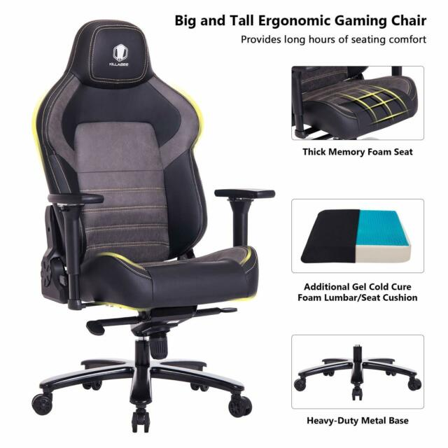 Peachy Killabee Big And Tall 440Lb Gaming Racing Office Chair With 4D Adjustable Arms Ocoug Best Dining Table And Chair Ideas Images Ocougorg