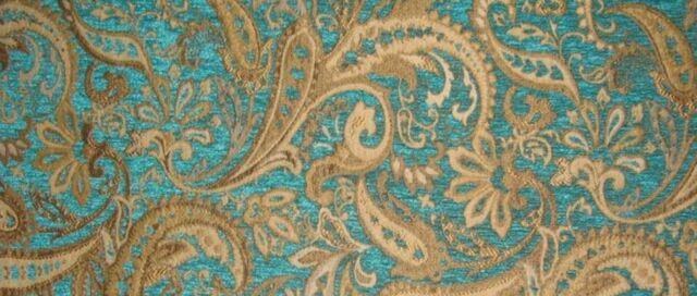 MARINA PAISLEY WITH FLORAL CHENILLE UPHOLSTERY DRAPERY FABRIC BY THE YARD