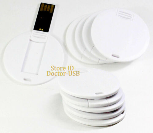 128MB 100PCS Round Card USB Flash Drive Small Storage Memory Flash Thumb Stick
