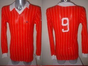 Kappa-Vintage-Shirt-Jersey-Trikot-Football-Soccer-Vintage-Maglia-L-S-Red-Adult-M
