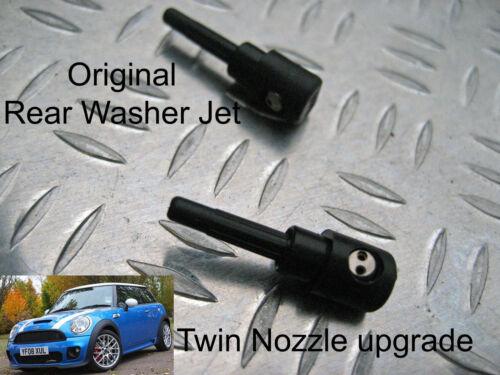 Rear Washer Jet Twin Nozzle UPGRADE BMW MINI R56 2007 2008 2009 2010 2011 2012