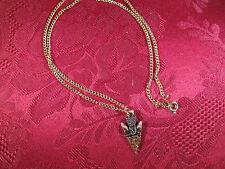 """Solid Copper Arrowhead Charm 18"""" Chain"""