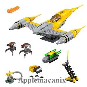 NEW-LEGO-75092-Star-Wars-Naboo-Starfighter-Set-NO-MINIFIGURES-w-2-Droidekas