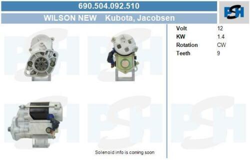 Wilson Anlasser für Startanlage 690.504.092.510