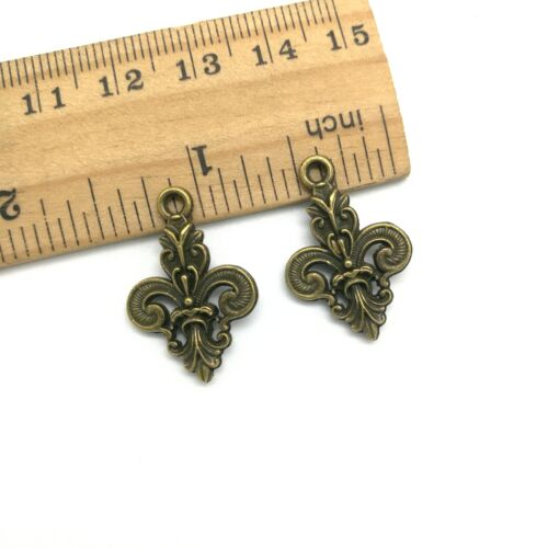 6//20//50pcs Flower Cross Antique Silver Charms Pendants Jewelry Finding 25x16mm