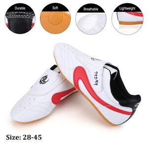 f91ea11b9 PU Unisex Taekwondo Kung Fu Karate Tai Chi Training Shoes Footwear ...