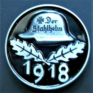 WW1-NEW-GERMAN-MILITARY-BADGE-1918-DER-STAHLHELM-MODERN-REPRO