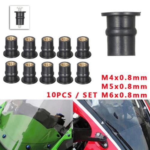 M4//5//6 Rubber WellNut Metric Motorcycle windscreen Well Nut Wellnuts Brass NU/_UK