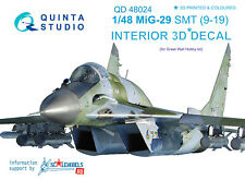Quinta QD48024 1/48 MiG-29 SMT (9-19) 3D-Printed&coloured interior for GWH kit