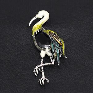 Women-039-s-Enamel-Crystal-Big-Flamingo-Bird-Charm-Betsey-Johnson-Animal-Brooch-Pin
