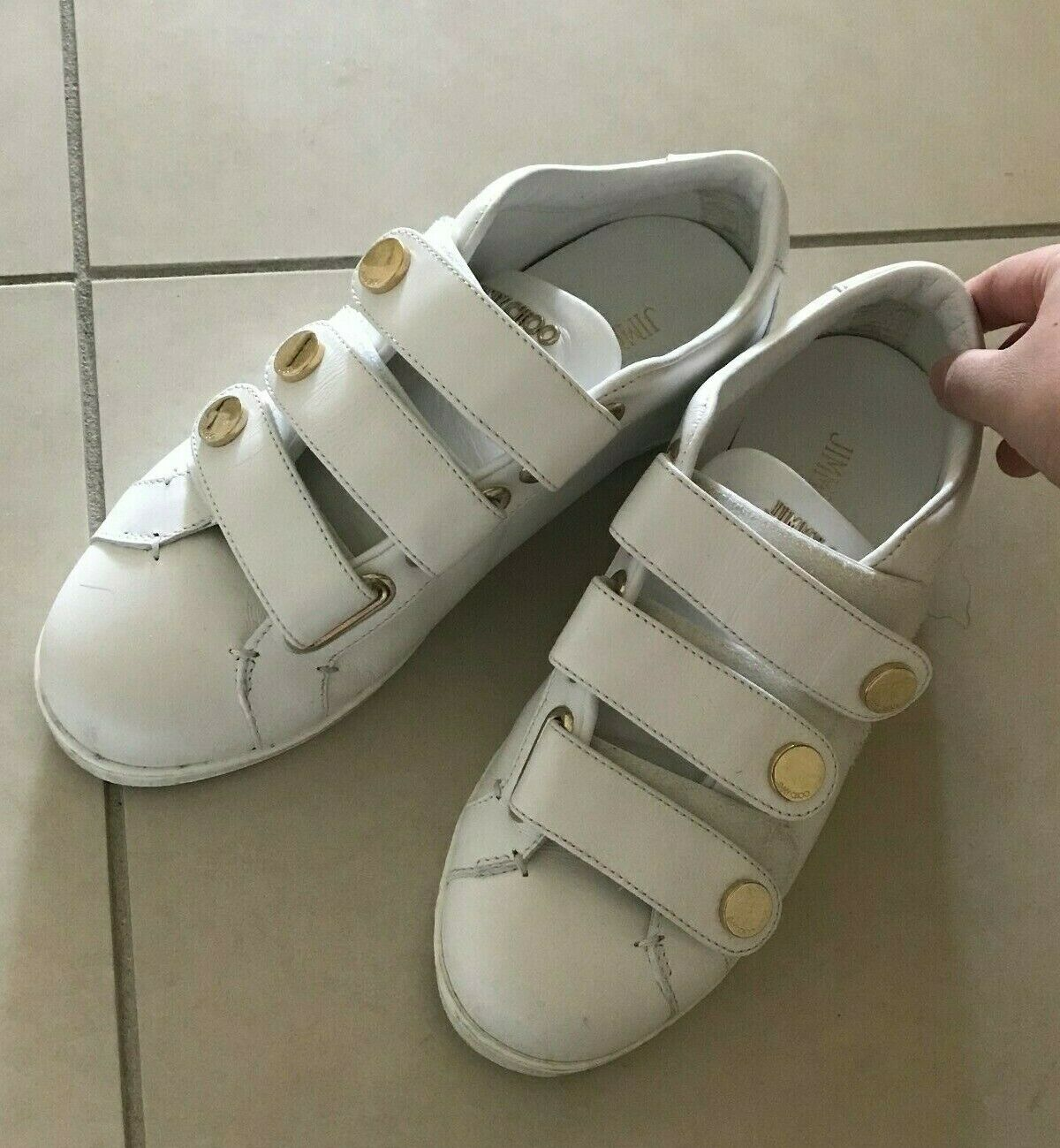 Jimmy Choo CUTE sneaker shoes white, US7 37, wore lease than 5 times, basic new