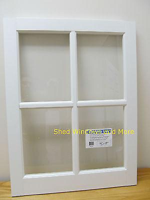 22x29 White PVC Barn Sash