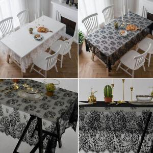 Dentelle Fleur Table Nappe Nappe Table de salle à manger Couvre Fête De Mariage Hôtel decor