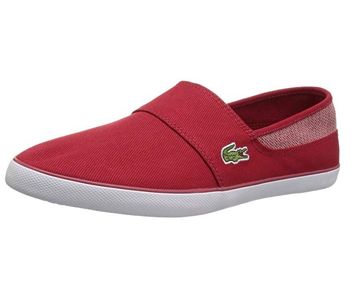 Lacoste Para Hombre Marice 318 1 Resbalón en Zapatillas De Moda, Rojo