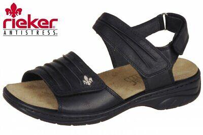 Rieker Damenschuhe Sandalen Sandaletten in Schwarz 64560 01